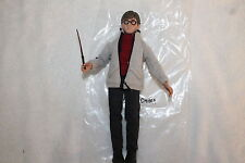 HARRY POTTER 8 INCH ACTION FIGURE  & WAND  NEW IN MANUFACTURERS BAG