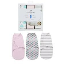 Summer Infant SwaddleMe Baby Swaddle Blanket 3 Pack Small 7-14lbs Pink Whale