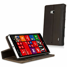 BoxWave Genuine Leather Vintage Book Nokia Lumia Icon Wallet Flip Case