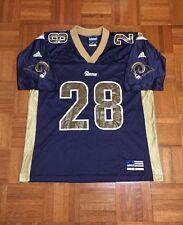 Vintage St. Louis LA Rams Marshall Faulk #28 NFL Football Adult M Adidas Jersey