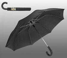 Gents/Ladies/Men/Women Black Compact Umbrella Classic Brolly Automatic
