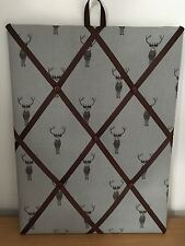 Hand Made Fabric Notice Board In Sophie Allport New Stag Fabric