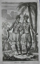 Original antique print, TYMORIAN SOLDIERS, TIMOR, INDONESIA, Nieuhof, 1744