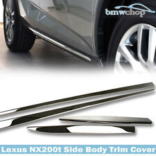F Sport 5D For Lexus NX200t NX300h Side Body Moulding Trim Bars Cover 14 15 16