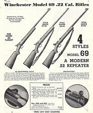 Winchester Model 69 G6901R, G6940R, G6941R Repeating Rifle 1947 Print Ad