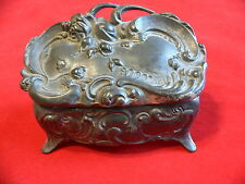 Antique Jennings Bros Art Nouveau Silver Trinket Box #930