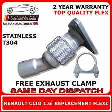 Renault Clio 1.6i 2001-2004 Easy DIY Flex Flexi Replacement For Cat Exhaust Pipe