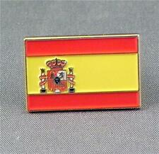Spain / Spanish Flag Enamel & Metal Lapel / Pin Badge - 24mm BRAND NEW