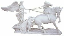 "10"" Inch Long Statue of Goddess Nike on a Chariot Horses Greek Gods Mythology"