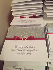 60 Wedding Pocketfold Invitations With Rsvp Cards And Poem Cards