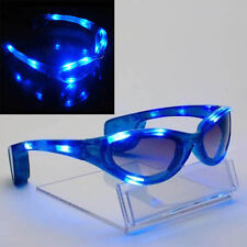 LED Light Up Sunglasses Shades Flashing Blink Glow Glasses Party Rave 4 Colors