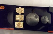 DISNEY STAR WARS WEEKENDS 2015 3 Tiered Pin Set w Second Death Star Completer