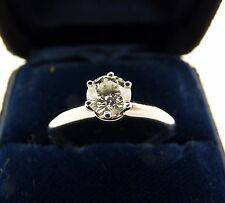 TIFFANY & CO. CERTIFIED PLATINUM 0.61ctw ENGAGEMENT SOLITAIRE RING - SIZE 7