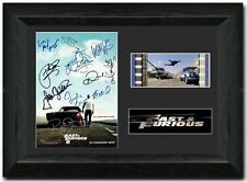 Fast and Furious Six Stunning cast signed 35mm Film Cell Display Paul Walker
