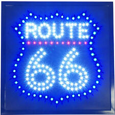 "19x19"" ROUTE 66 muscle vintage Car Hot rod man cave LED Open garage Sign neon"