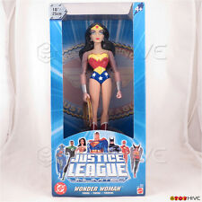 Justice League Unlimited Wonder Woman 10 inch vinyl figure DC JLU blue box
