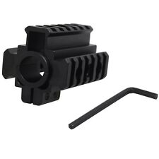 Hunting Tactical Tri-Rail Barrel Mount See Through 20mm Picatinny Weaver Rail
