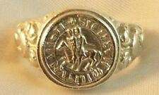 ANELLO SIGILLO DEI TEMPLARI ORO 750 MILL. 18 K YELLOW GOLD TEMPLAR KNIGHT RING
