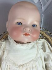 "Pretty Antique German Bisque Head 15"" Baby Doll AM 341"