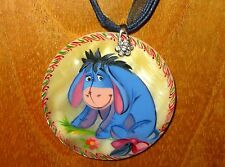 Genuine Russian Shell Donkey Eeyore DISNEY hand painted signed Unique pendant