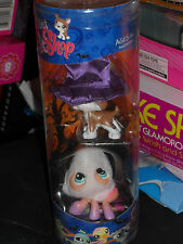 2009 LITTLEST PET SHOP BOSTON TERRIER #1079 AND GHOST SPIDER #1078 HALLOWEEN SET