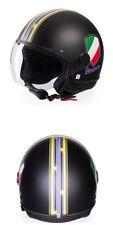 All New Genuine Piaggio Vespa V-Stripes Helmet - Black - Size MEDIUM