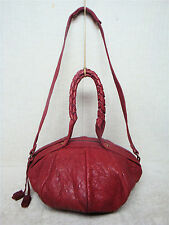 MELANIE DIZON - Red -Soft Sheep Skin Leather Satchel Shoulder Bag Handbag Purse