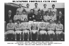 BLACKPOOL F.C.TEAM PRINT 1965 (ARMFIELD / CRAVEN / CHARNLEY / WAITERS)