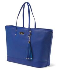BCBG Paris Large Blue Perforated Logo Tote Shopper Shoulder Handbag NWT