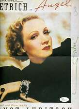 MARLENE DIETRICH JSA COA HAND SIGNED 11X13 POSTER PHOTO AUTHENTICATED AUTOGRAPH