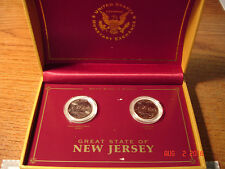 1999 New Jersey Quarters P, D United States Monetary Exchange  in Case
