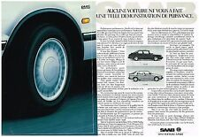 Publicité Advertising 1987 (2 pages) SAAB 900 et 9000