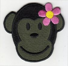 CHICK TRUNK MONKEY Morale Patch - olive drab - full hook backing