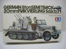 VINTAGE Tamiya 1/35 German 8 Ton Semi Track 20mm Flak Vierling Sd.kfz 7/1