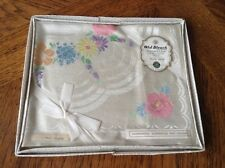 """""""Old Bleach"""" Moonglow Vintage Damask Tray Cloth - Sealed Packet"""