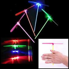 "10 x ""DRAGONFLY"" FLYING LED SPINNING LIGHT UP TRADITIONAL COLOURFUL TOY ~ £8.95"