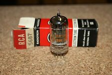 5687 RCA VINTAGE NOS TUBE - GM TESTED SUPERB AND BALANCED! - IN BOX