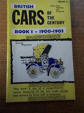 Vtg Booklet BRITISH CARS OF THE CENTURY Book 1 1900-1903 REAL PHOTOS Illustrated