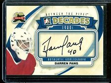 2011-12 ITG Between the Pipes Goaliegraph Autograph  A-DP  Darren Pang