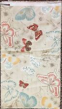 "COVINGTON Papillon Butterflies Blue Orange Cream Fabric 3.5 YARDS 54"" Home Decor"