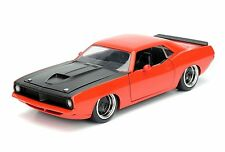 JADA 1:24 DISPLAY BIG TIME MUSCLE 1973 PLYMOUTH BARRACUDA DIECAST CAR 98244 OR