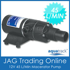 12V AQUATRACK MACERATOR WASTE TOILET SEWERAGE WATER PUMP- Marine/Boat/RV/Caravan