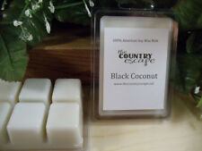 Black Coconut Scented Soy Wax Clamshell Melt Tart- 2wks of Fragrance