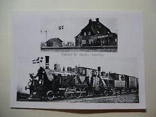DEN147 KOLDING SOUTHERN RAILWAYS - LOCO *REPRO* PHOTO Sjolund Station Denmark