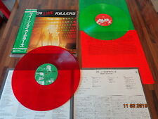 "QUEEN ""KILLERS""- JAPAN 2LP + OBI + INSERTS - LIVE - LP RED & GREEN WAX - P55678E"
