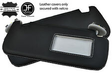 GREY STITCH 2X SUN VISORS LEATHER COVERS FITS TOYOTA COROLLA 07-13 SALOON