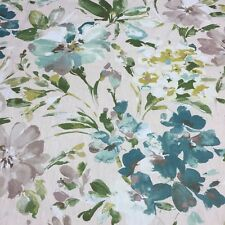 P Kaufmann Multipurpose Linen Print Fabric Paint Palette in Mist 3 YARDS
