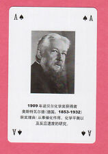 Wilhelm Ostwald Chemistry Nobel Prize Winner Chinese Playing Card