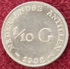 Netherlands Antilles Tenth of a Gulden 1962 (C0610)