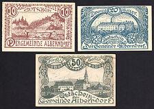 Alberndorf (OÖ) -Gemeinde- 10 H, 20 H und 50 Heller (JP 17 a )